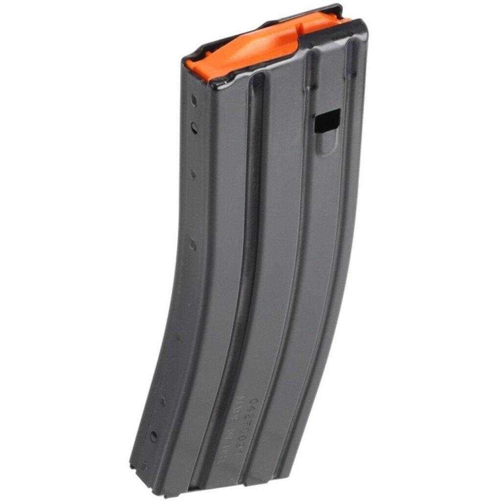 DB15 30 Round Standard Aluminum Magazine Black with Orange Follower
