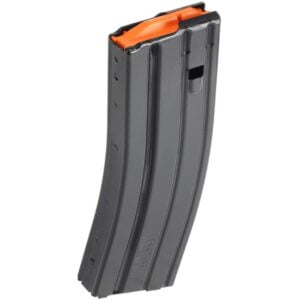 DB15 30 Round Standard Aluminum Magazine Black with Orange Follower