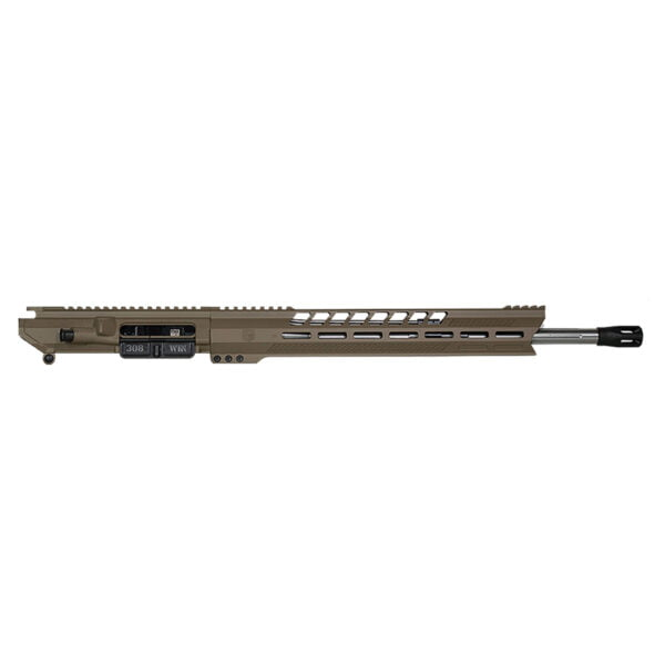 "DB10 308 18"" BLACK GOLD SERIES UPPER RECEIVER W/ 15"" M-LOK V RAIL W/ ANTI SLIP TEXTURE PADS"