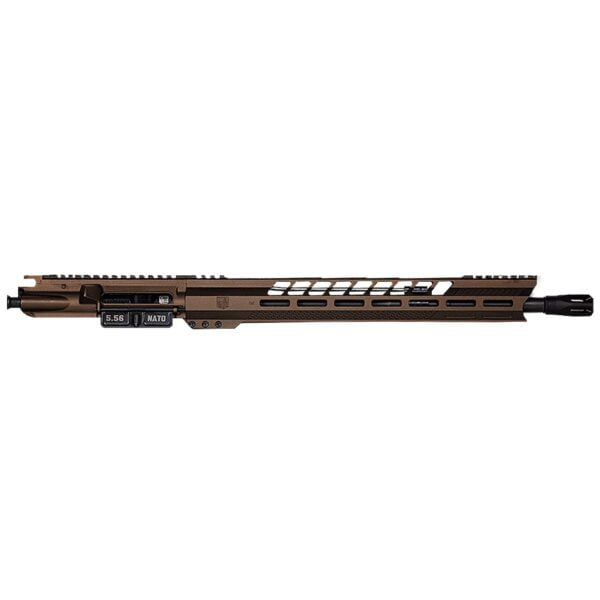 "DB15 5.56 16"" BLACK GOLD SERIES UPPER RECEIVER W/ 15"" M-LOK V RAIL W/ ANTI SLIP TEXTURE PADS"