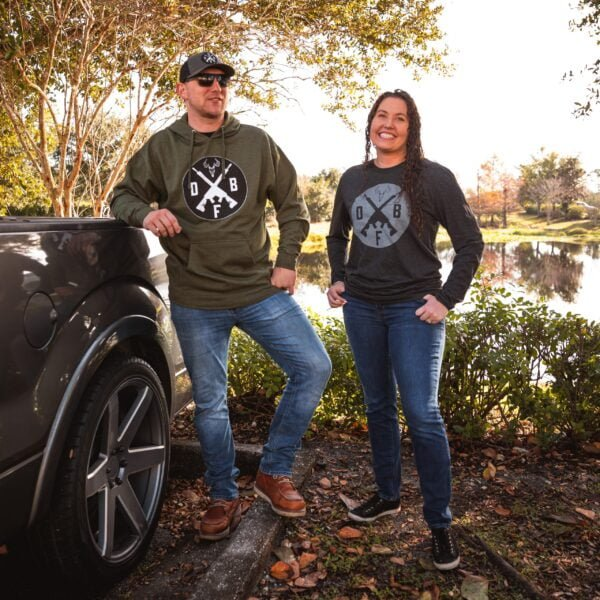 "DB ""Stag Slayer"" PULLOVER HOODIE - UNISEX - MILITARY GREEN