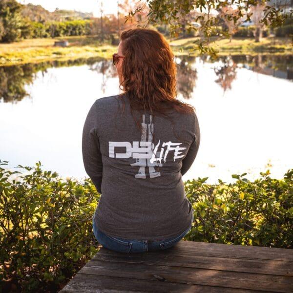 """DB Life"" LONG SLEEVE T-SHIRT - DARK GREY HEATHER|""DB Life"" LONG SLEEVE T-SHIRT - DARK GREY HEATHER"