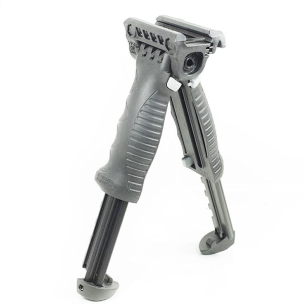 FAB DEFENSE VERTICAL QUICK RELEASE FOREGRIP WITH AN INCORPORATED BIPOD|FAB DEFENSE VERTICAL QUICK RELEASE FOREGRIP WITH AN INCORPORATED BIPOD